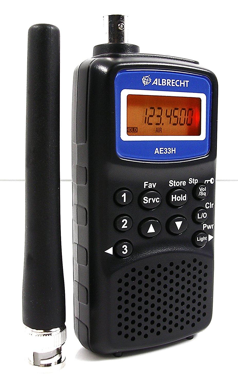 Gọn 33H Albrecht AE - 180 kênh VHF / siêu cao tần AM / FM / WFM mẫu đều cầm máy quét