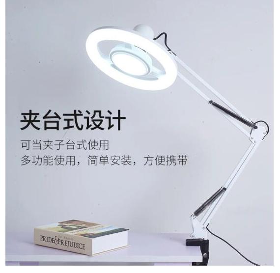 sắc ánh sáng đèn đặt dưới đất led ánh sáng lạnh kính lúp thẩm mỹ viện Mỹ Portable đèn mổ lợn đen 20