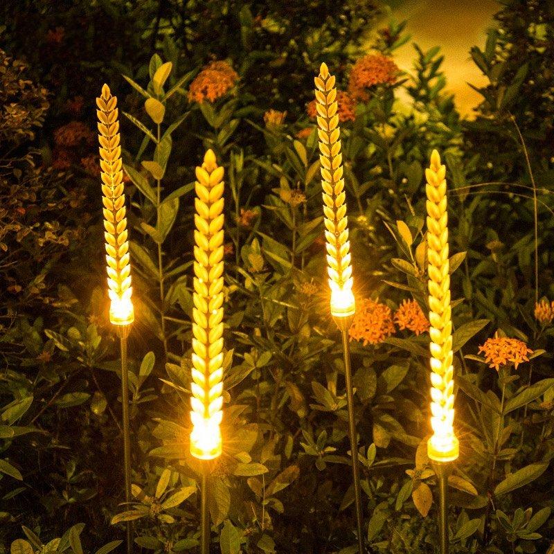 JS   Không thấm nước bên ngoài sân cỏ LED đèn cắm đèn trang trí bên ngoài đất biệt thự sân vườn phon