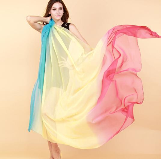 chegee Trộn CHEGEE tuyển tập khăn quàng khăn bãi biển du lịch đi chơi gái dần màu kem chống nắng khă