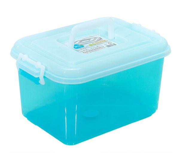 CHAHUA Trà hoa 8.5L ngài nhận lấy hộp nhựa hộp kèn xếp ngăn chứa dày của màn hình màu ngẫu nhiên côn