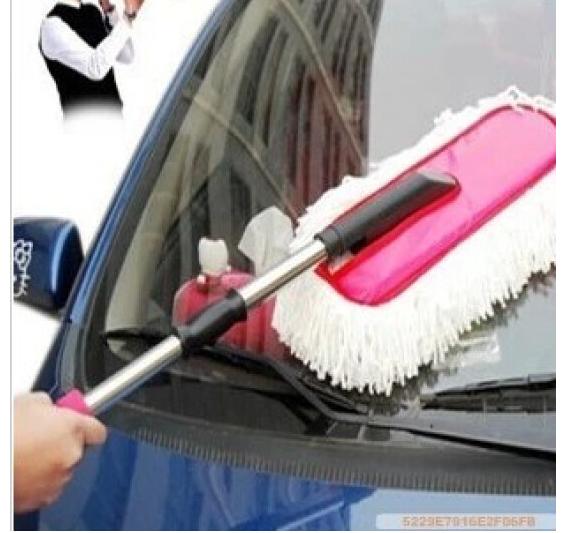 Chổi nano lau rửa xe ô tô chuyên dụng - cán kéo dài .