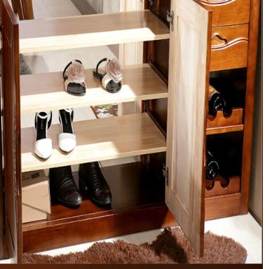 The rain Đồ đạc của 1.3 m gỗ thật đấy bình phong bốn cửa tủ lấy hòm gỗ óc chó, phòng khách, phòng ng