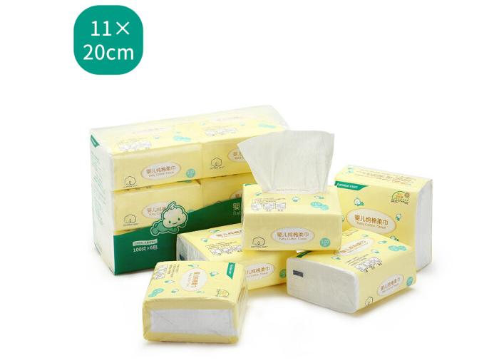 PurCotton Sợi len Thời (PurCotton) Bé bông được cân / hút giấy được cân 11*20cm khăn giấy gói / 6.