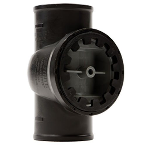 Holdrite TRPVCNH2A No-Hub Cast Iron DWV Test/Cleanout Tee with Plug for Piping Systems