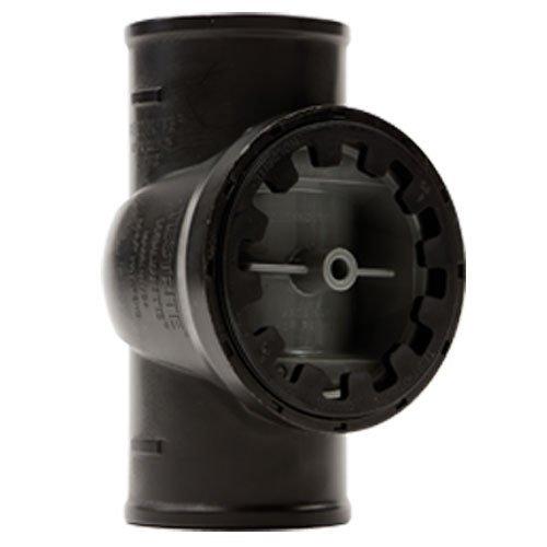 Holdrite TRPVCNH4A No-Hub Cast Iron DWV Test/Cleanout Tee with Plug