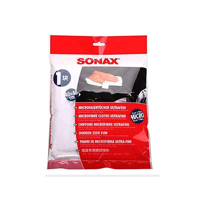 SONAX Đức nhập khẩu xe sơn rửa xe waxing khăn vải lớp phủ mạ pha lê làm sạch khăn