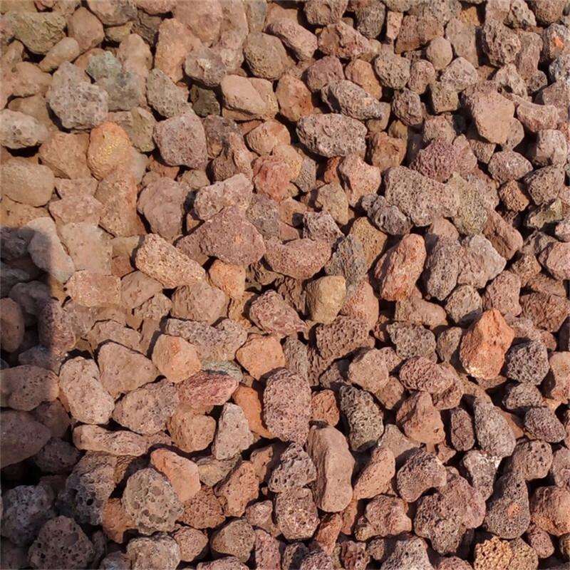 Đá núi lửa nhà máy bán buôn mài chân đen đá núi lửa sản phẩm tự nhiên làm vườn đỏ phi kim loại cung