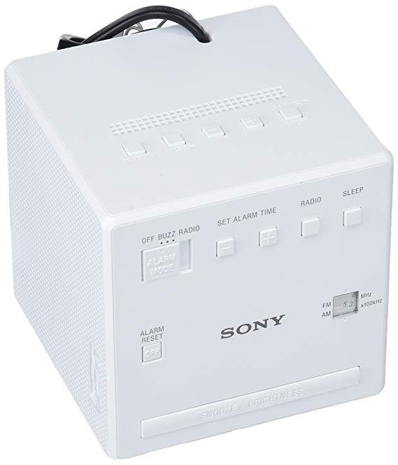 Sony ICFC1W.CED Đồng hồ báo thức Radio , màu trắng