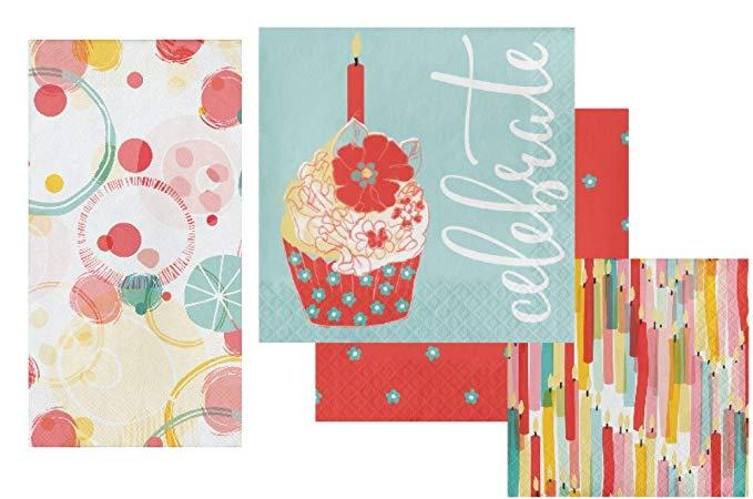 Celebration Napkin Set - Bao gồm khăn ăn / khăn ăn, khăn ăn trưa và khăn ăn cho thiết kế Elise