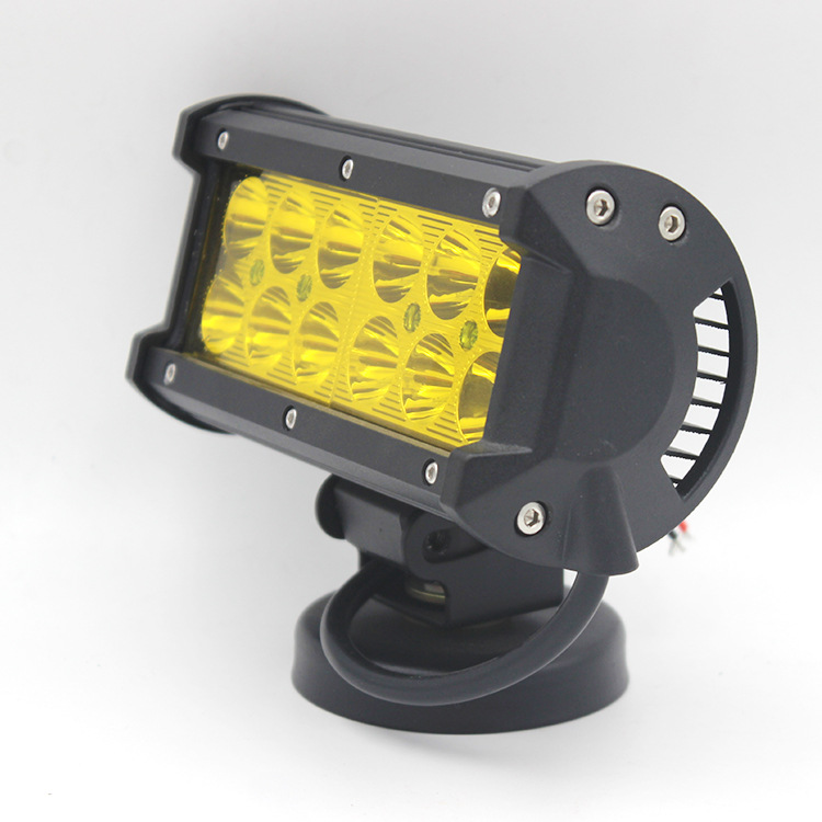 LED ánh sáng xe 36 Wát công việc kỹ thuật ánh sáng ba mắt vàng ánh sáng phản chiếu cup nhà máy hỗ tr
