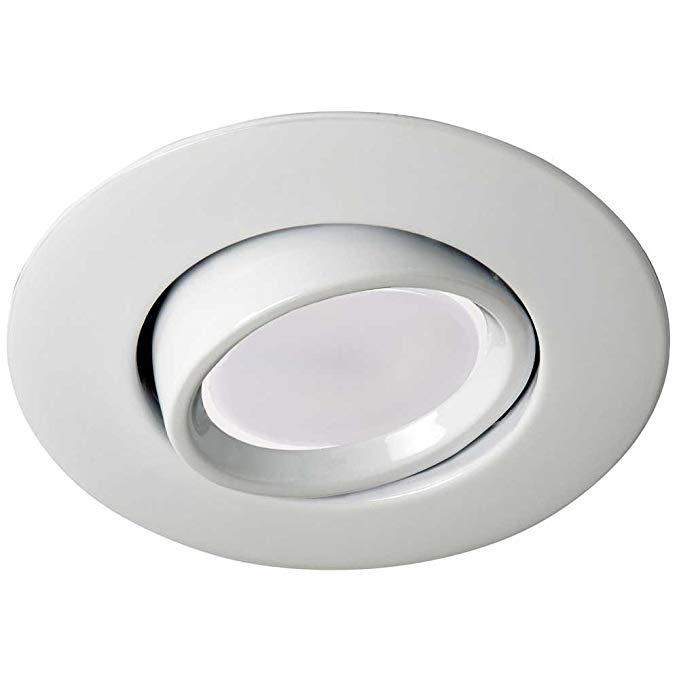 Kit. LED nhúng vòng II trắng (góc nghiêng 45o). Đường kính 10 cm. GU10 phù hợp + bóng đèn LED 8 W ấm