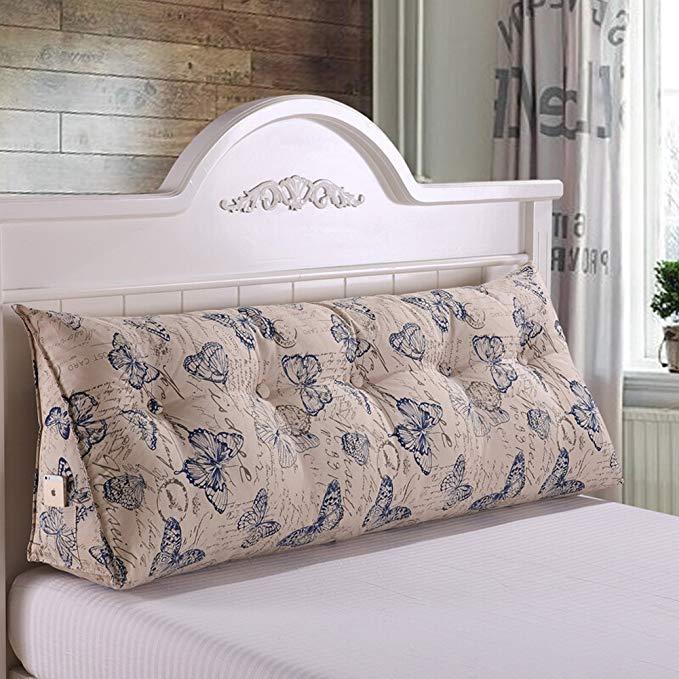 Trà gỗ Bông vải giường tam giác đệm lớn sofa gối Tatami gối giường đôi đơn mềm giường túi lớn giường