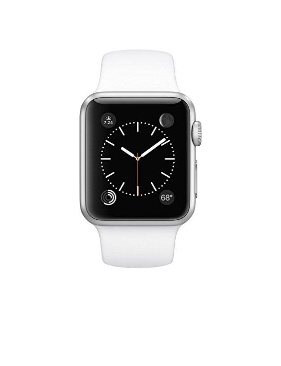 Đồng Hồ Vỏ nhôm bạc-watch-4 của Apple-watch-4 / Dải màu trắng 42mm