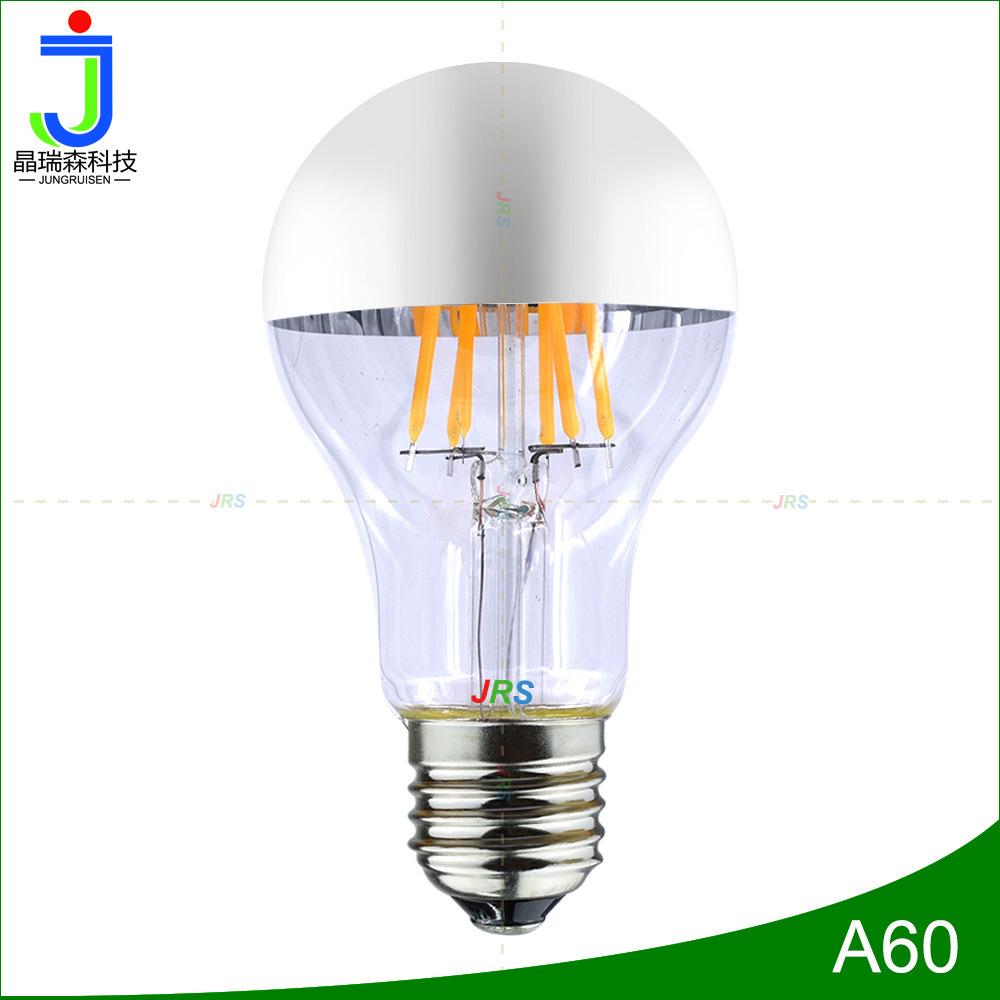 A19 bóng đèn dây tóc 6 Wát 220 V mạ bạc