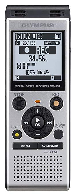 Máy ghi âm Olympus WS-852 ghi Bộ nhớ USB 4 GB