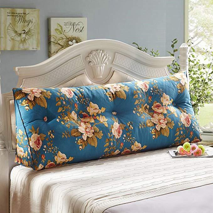Trà gỗ có thể tháo rời và có thể giặt bông tam giác giường đệm lớn đệm sofa tatami gối đôi đầu mềm g