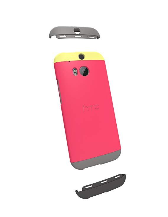 Vỏ bọc đôi HTC One (M8) - Bao bì bán lẻ - Vàng / Fuchsia / Xám