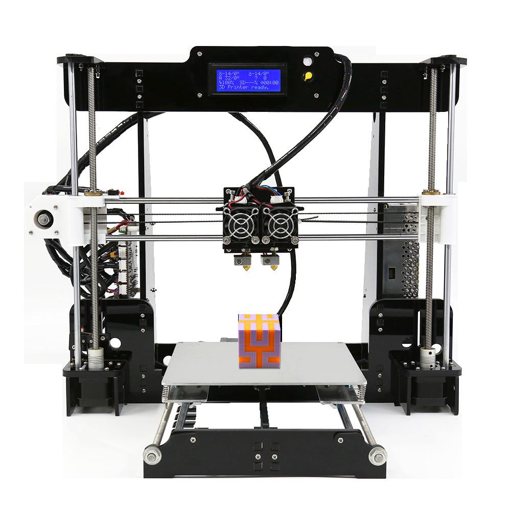 Thâm Quyến anet a8 máy in 3D vòi phun kép in hai màu mục giáo dục cấp máy in 3d