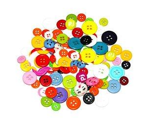 Với văn phòng Kẹo màu bốn mắt rộng vành trẻ em khóa Handmade chất liệu handmade TỰ LÀM trẻ em nút mà