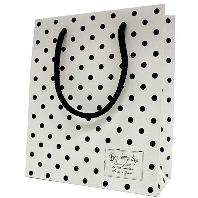Túi giấy trắng Marilyn Monroe chấm SS trắng