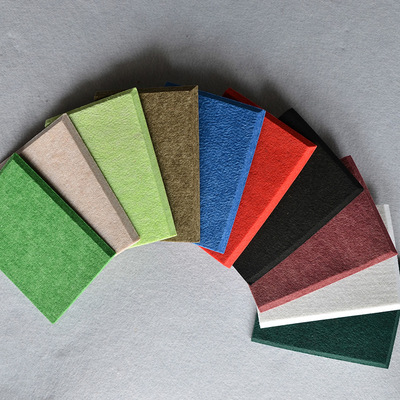 Nhà sản xuất cung cấp thân thiện với môi trường cách âm sợi polyester âm thanh hấp thụ panels tường
