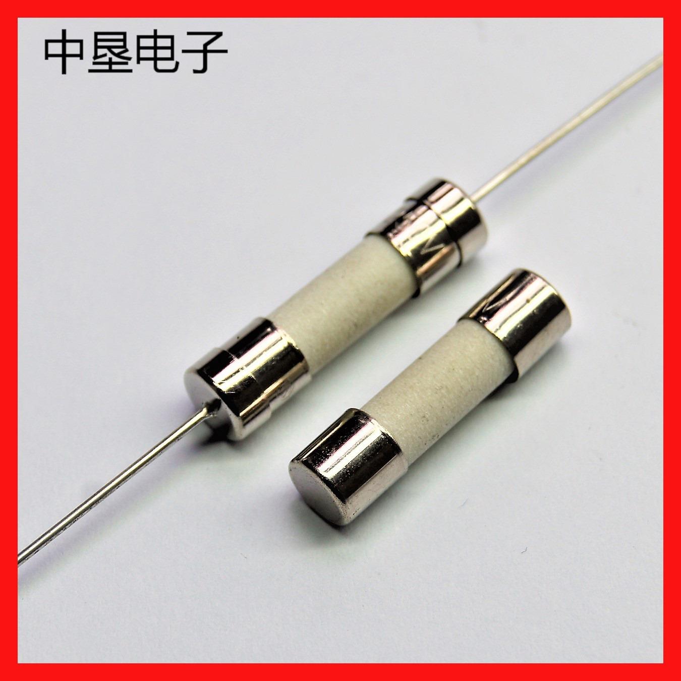 1A / 2A / 3.15A / 5A thiết bị bảo vệ 5.2x20mm gốm cầu chì ống phẳng