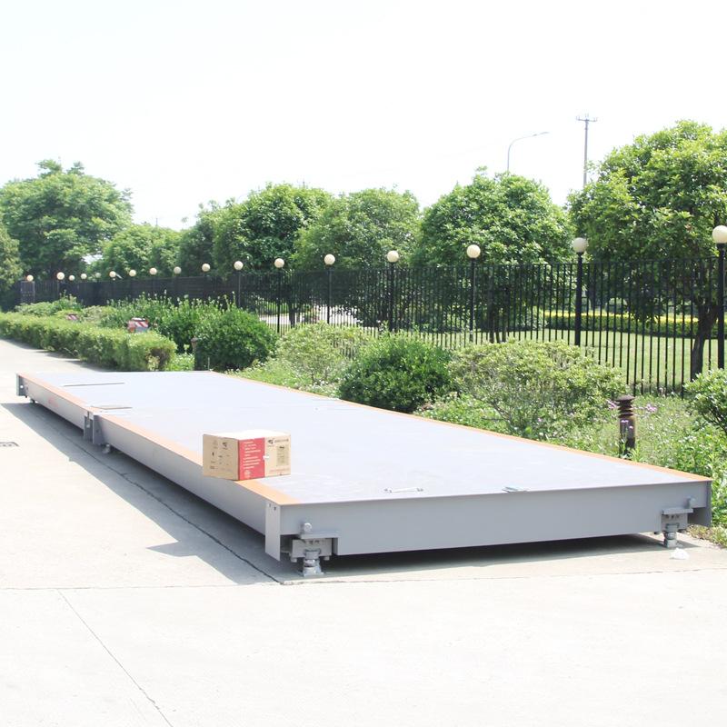 60 tấn cân điện tử nền tảng 3 * 8 mét với Yaohua DS10 in kỹ thuật số cụ 60 T quy mô sàn
