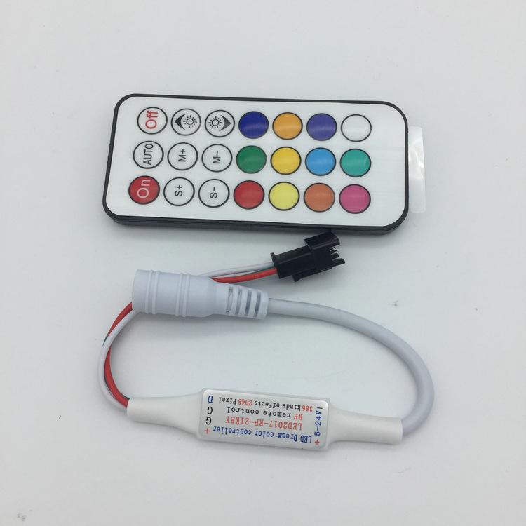 LED Symphony ánh sáng với WS2811WS2812B RF IR Mini 21 phím 5V-24V IC đầy đủ màu sắc điều khiển