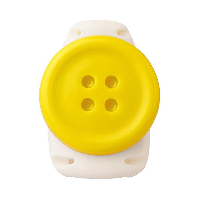 Chủ Thẻ ID Thẻ Sinh Viên của Sonic Kid Thẻ Clip Chủ Thẻ Thuận Tiện Clip Ngực (Nút Màu Vàng)