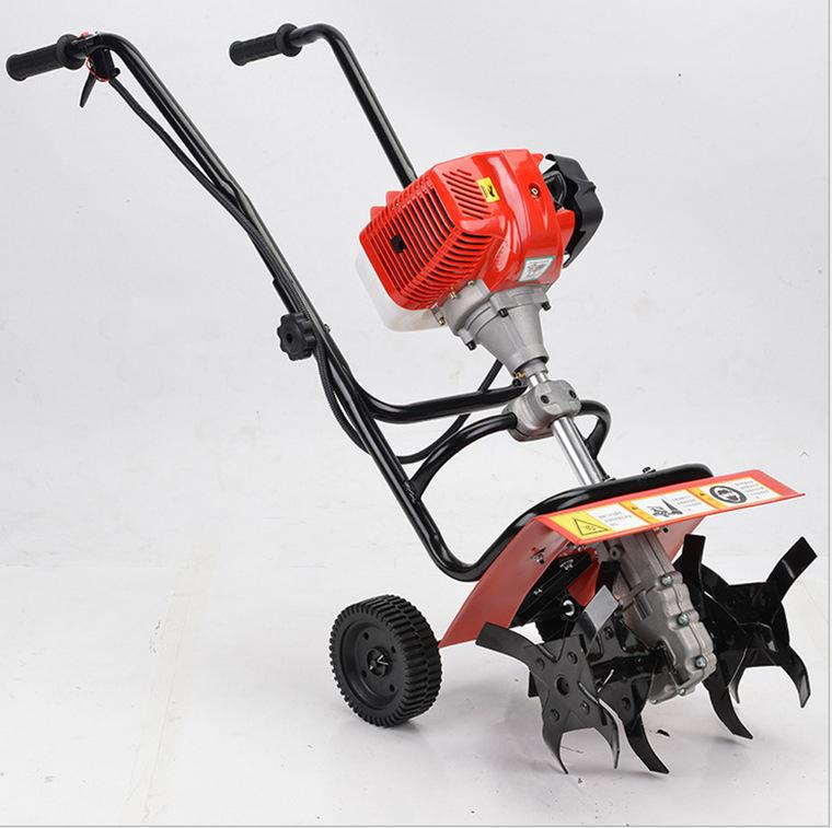 Trực tiếp rotary tiller hai thì xăng micro làm đất đất lỏng làm cỏ máy nông nghiệp nhỏ máy móc nông