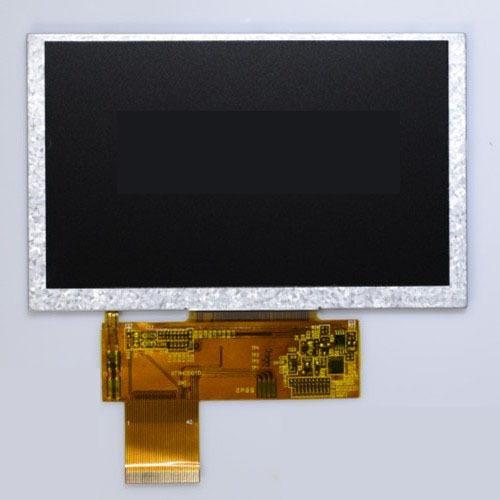 Cung cấp 5 inch LCD màn hình LCD nhóm TFT hiển thị 800 * 480 góc nhìn đầy đủ làm nổi bật hỗ trợ màn