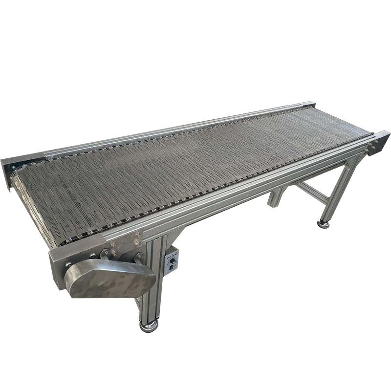 Thép không gỉ chuỗi tấm băng tải các nhà sản xuất giá tùy chỉnh mỗi mét chế biến băng tải thiết bị f