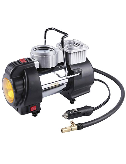 Pajiedi Xe đơn xi lanh máy bơm không khí 12 V cơ khí đồng hồ Đa chức năng xe air pump Điện inflator