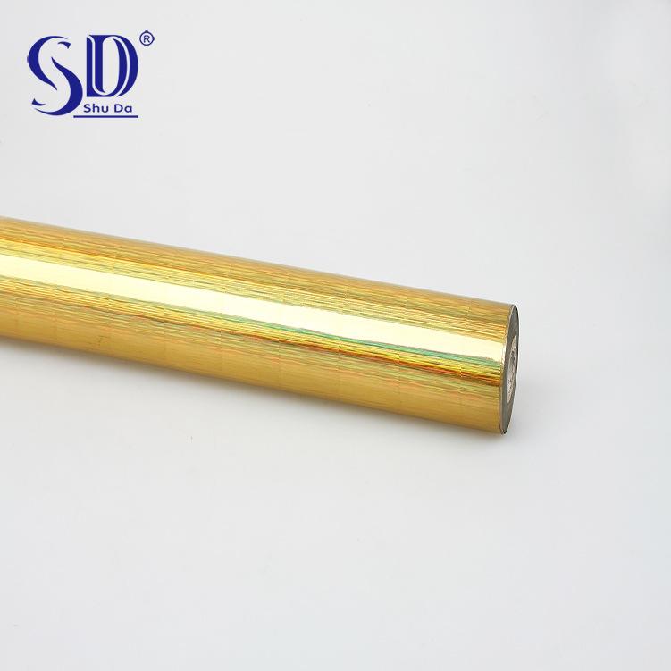 Shuda chuyên sản xuất và cung cấp anodized nhôm cao cấp ống bronzing vàng lá giấy bao bì vật liệu