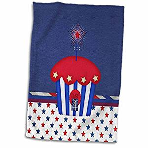 3drose BEVERLY TURNER Thiết kế ngày độc lập - bánh yêu nước, lấp lánh sao, đỏ, trắng, xanh dương, th