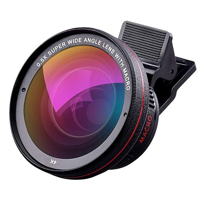 Ống kính điện thoại di động tensun ống kính máy ảnh iphone đặt 0,5 x ống kính góc siêu rộng + 15 x ố