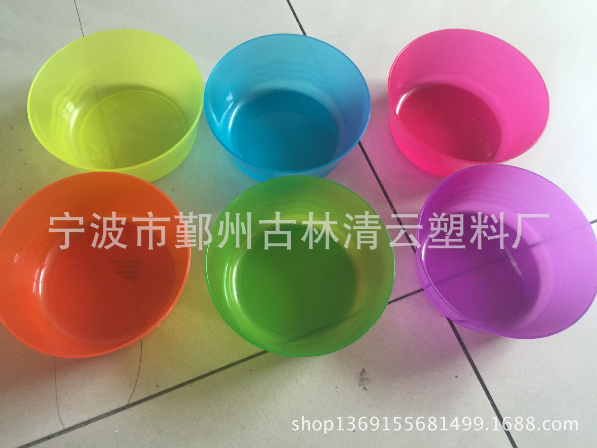 Plastic dish bowls, cups and saucers, children's dishes, children's dishes, daily necessities, 6PS