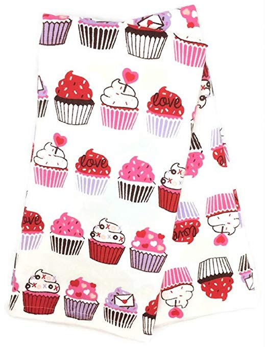 Bộ khăn nhà bếp Cupcakes ngày Valentine Casaba