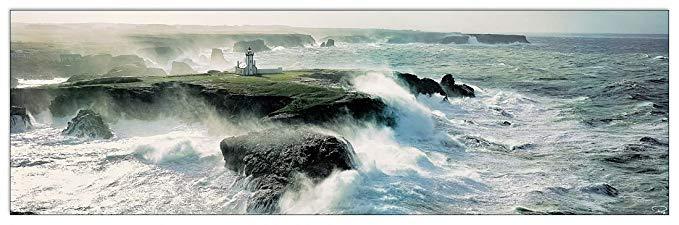 Artopweb PLISSON - Avis de coup de vent sur Les Poulains (bảng trang trí 144x45 cm)