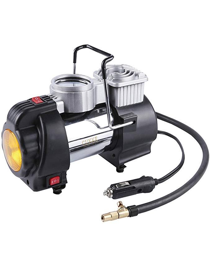 dual-xi lanh máy bơm không khí 12 V cơ khí đồng hồ Đa chức năng