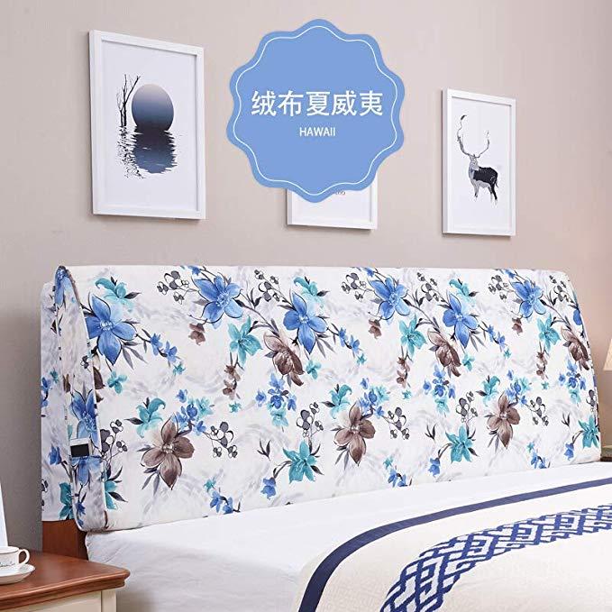 Đơn giản Châu Âu cạnh giường đệm lớn trở lại giường gỗ rắn gói mềm trải giường đôi tatami vải có thể