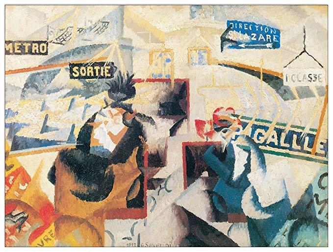 Artopweb SEVERINI - Nord Sud, 1912 (bảng trang trí 120x91 cm)