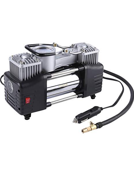 Pajiedi Xe dual-xi lanh máy bơm không khí 12 V cơ khí đồng hồ Đa chức năng xe máy bơm không khí Điện