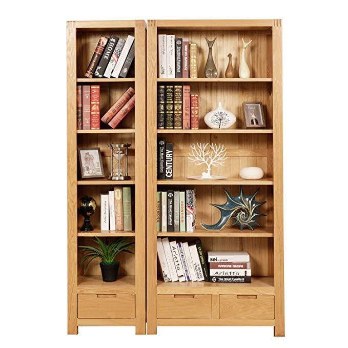Baijia Hiện Đại nhỏ gọn kết hợp gỗ rắn tủ sách kệ nghiên cứu đồ nội thất tủ sách phòng khách MUJI sồ