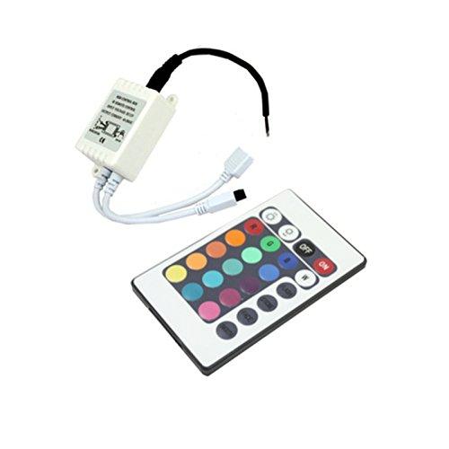 Bộ điều khiển RGB điện tử màu bạc với đèn LED có điều khiển từ xa, màu trắng