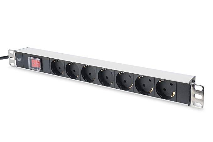 DIGITUS Professional DN-95402 Bảng chuyển đổi Hợp kim nhôm 7 khe cắm thẻ nhớ với công tắc khung 19 i