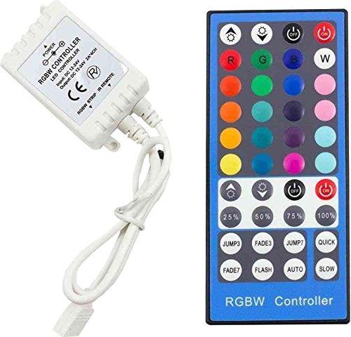 Bộ điều khiển Agfri RGB + W với điều khiển từ xa hồng ngoại, trắng
