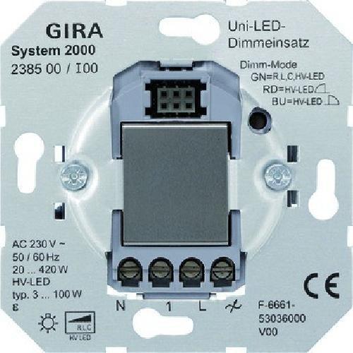 GIRA Universal LED cảm ứng Dimmer Switch cho loại 3 100 W, 238500
