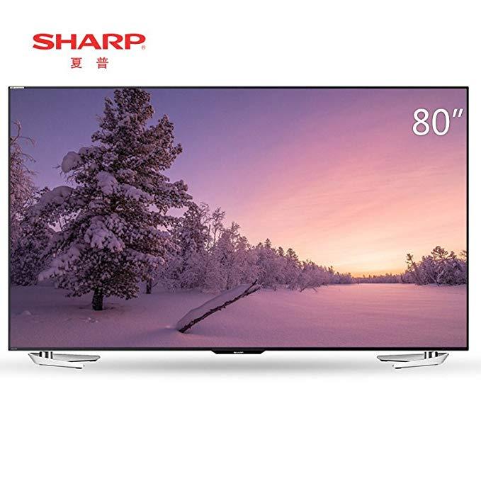 Sharp Sharp LCD-80X818A 80-inch 4K Ultra HD HDR Giọng nói thông minh LCD TV màn hình phẳng